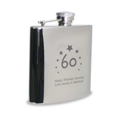 Personalised Stars Age Hip Flask